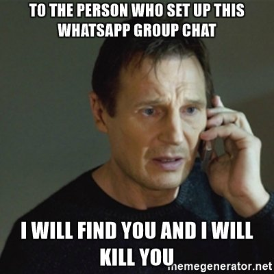 to-the-person-who-set-up-this-whatsapp-group-chat-i-will-find-you-and-i-will-kill-you